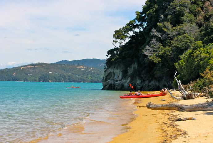 Abel Tasman, playas isla sur, nueva zelanda