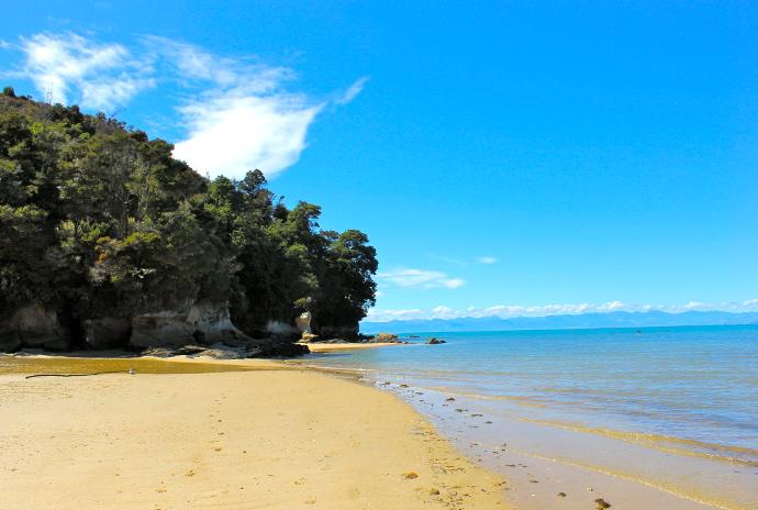 Parque bel Tasman, isla sur, nueva zelanda