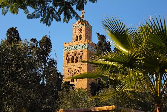 Marrakech, mezquita Kutubía, minarete principal
