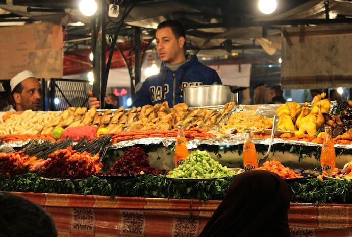 Souk Marrakech, comida callejera