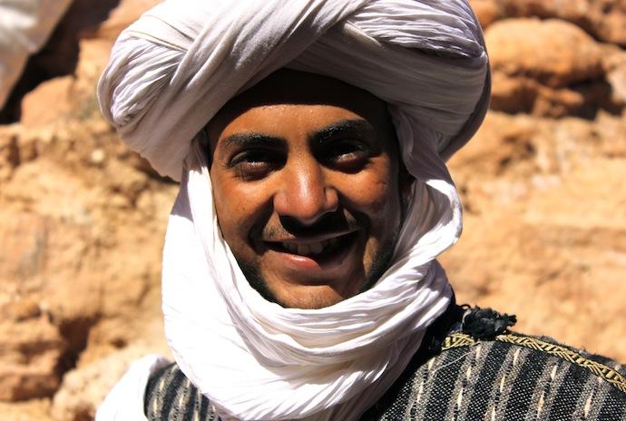 Retrato de un hombre berber en Marruecos, Aït Benhaddou