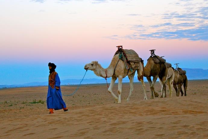 montar en camello, Marruecos