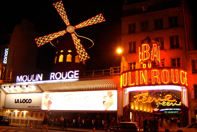 Vista del Moulin Rouge en Paris