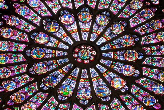Notre Dame de Paris Vitral