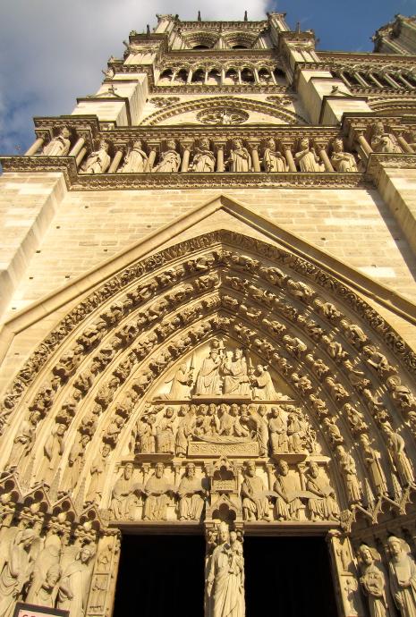 Detalle de la Catedral Notre Dame de Paris
