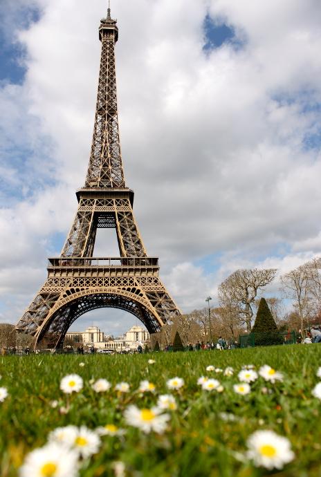Torre Eiffel desde los Campos de Marte, Paris