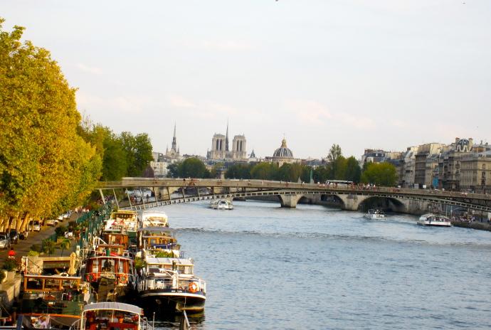 Vista rio sena paris