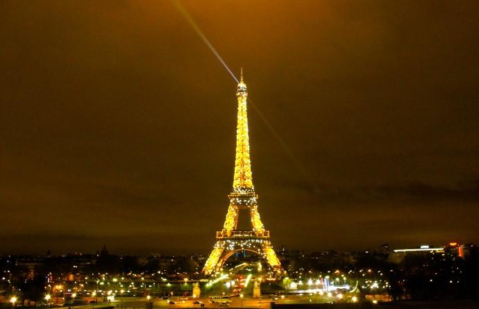 Torre Eiffel de Noche paris